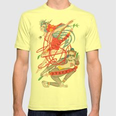 The Legendary Panda Brother & Dragon Sister  / Original A4 Illustration / Colored Pencil & Ink Lemon Mens Fitted Tee SMALL