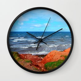 Rolling Waves in East Point PEI Wall Clock