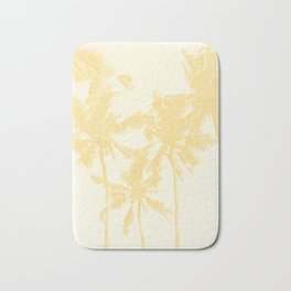Yellow Palm Trees Bath Mat