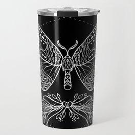 Moth Floral Travel Mug