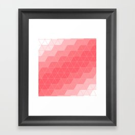 Coral Red Triangles Framed Art Print
