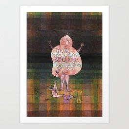 Ventriloquist and Crier in the Moor Paul Klee Art Print