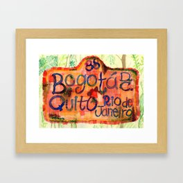 Cartel de bus Framed Art Print