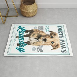 Dirty Paws Laundry Rug