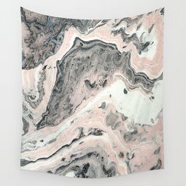 Lady in pink Wall Tapestry