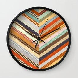 Fall Grandmother's Quilt II Wall Clock