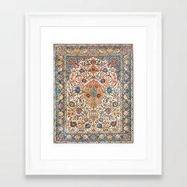 Isfahan Antique Central Persian Carpet Print Framed Art Print