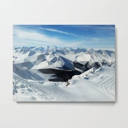 low poly mountains Metal Print