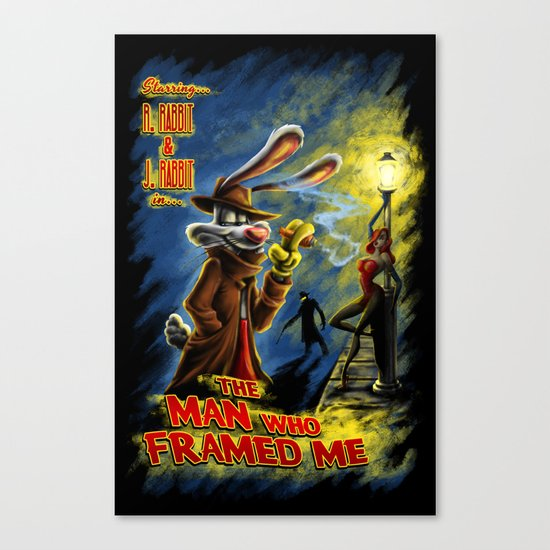 The Man Who Framed Me Canvas Print