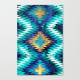 Inverted Navajo Suns Canvas Print