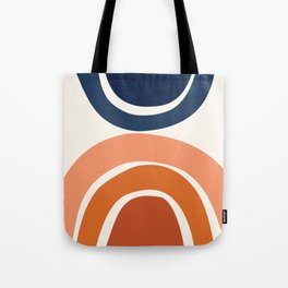 Abstract Shapes 9 in Burnt Orange and Navy Blue Tote Bag