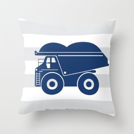 Dump truck stripe Throw Pillow