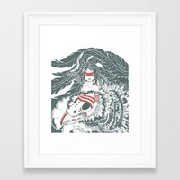 pocahontas Framed Art Prints featuring Pocahontas by ItDrizzles