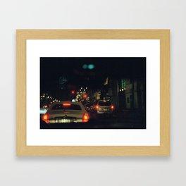 through the windshield Framed Art Print