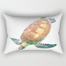 The Green Sea Turtle (Colored) Rectangular Pillow