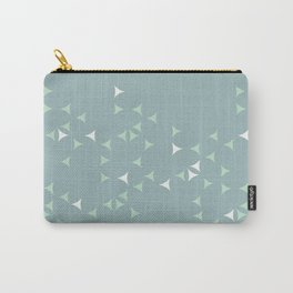 Minty_ Blue_Triangles Carry-All Pouch