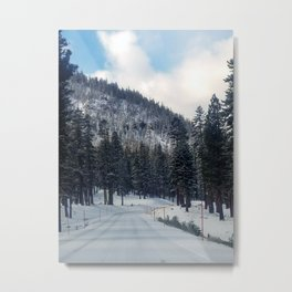 Mammoth Mountain: Scenic Road Metal Print