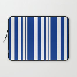 White and blue striped . Laptop Sleeve
