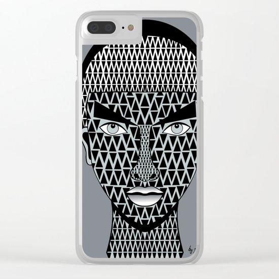 geometric geisha Clear iPhone Case
