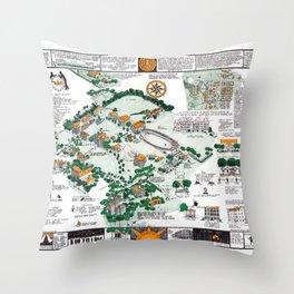 SYRACUSE campus map NEW YORK dorm decor graduate Throw Pillow