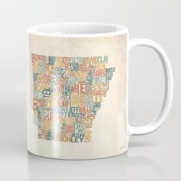 Arkansas by County Coffee Mug
