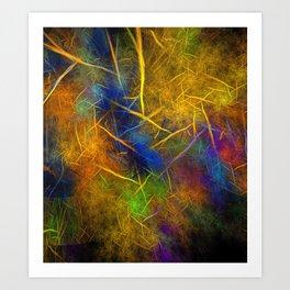 Fractal Lightning (Storm Flame) Art Print