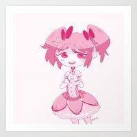 madoka magica Art Prints featuring Madoka  by n0rara