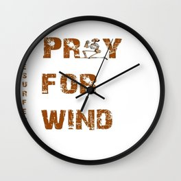 Kitesurfers Pray for Wind Wall Clock