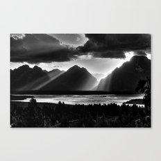 Grand Teton Light Beams Canvas Print