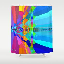 Chromesthesia Two Shower Curtain