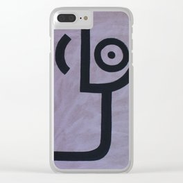 signo 7 negro Clear iPhone Case