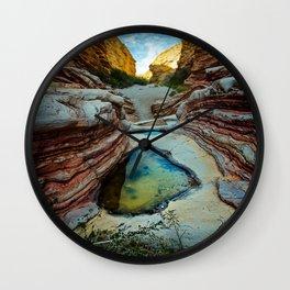 Ernst Canyon, Big Bend, Texas Wall Clock