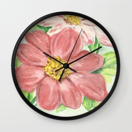 Dahlia Seed Packet Wall Clock