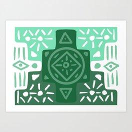 Emerald Spirits Art Print