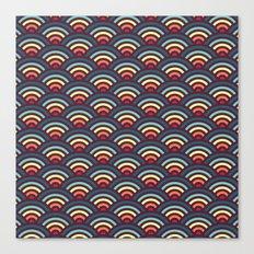 rainbowaves pattern Canvas Print
