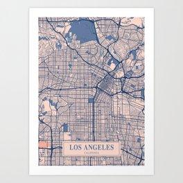 Los Angeles - Califonia Breezy City Map Art Print