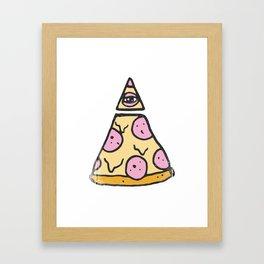 ILLUMINATI PIZZA Framed Art Print