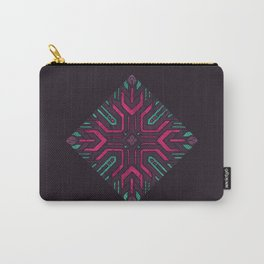 Neon Diamond Carry-All Pouch
