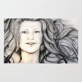 Mermaid (B/W) - Original Sketch to Digital Rug