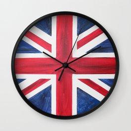 Union Jack Acrylic on Canvas Wall Clock