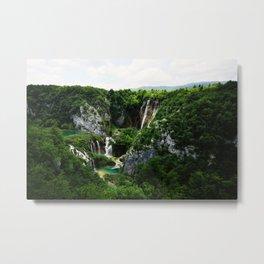 veliki slap waterfall 1 plitvice lakes national park croatia std Metal Print