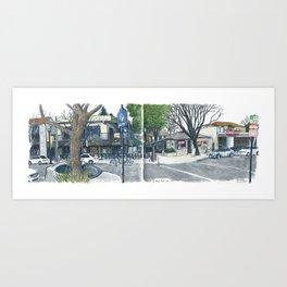 E Street Davis panorama Art Print