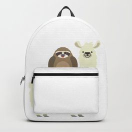 Cute & Funny Sloth Riding Llama Backpack