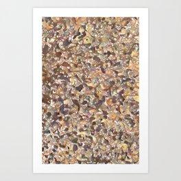 Road Speaks - Brown Art Print