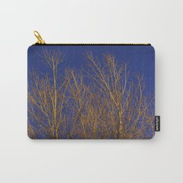 Glimmering Golden Willow Carry-All Pouch