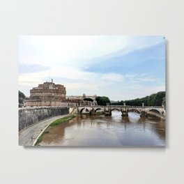 Castel St'Angelo Across the Tiber River - Rome, Italy Metal Print