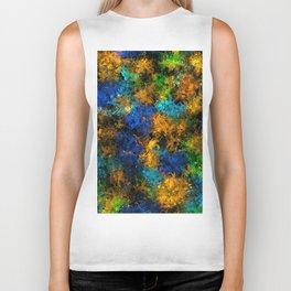 squiggly abstract C Biker Tank