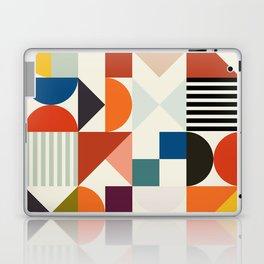 mid century retro shapes geometric Laptop & iPad Skin