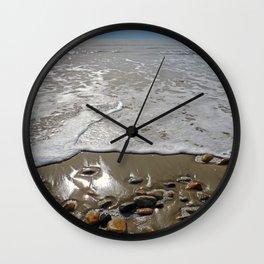 Tide Going Out at Horseneck Beach ~ Westport, MA Wall Clock