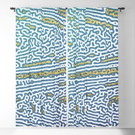 Ocean Waves and Golden Sands Blackout Curtain